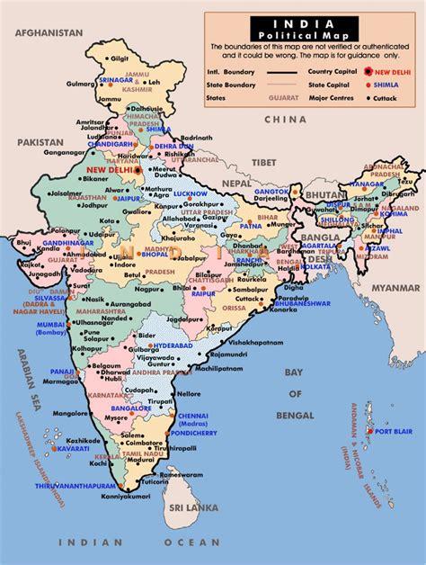 political  administrative map  india india asia