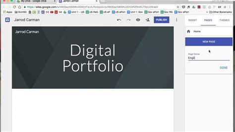 create  digital portfolio    google sites youtube