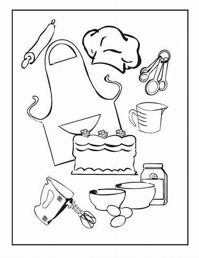 Cooking Baking Coloring Pages