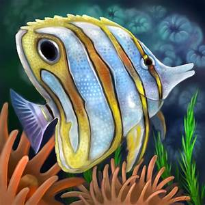 Layer Paint tropical copperband butterfly fish by charfade ...