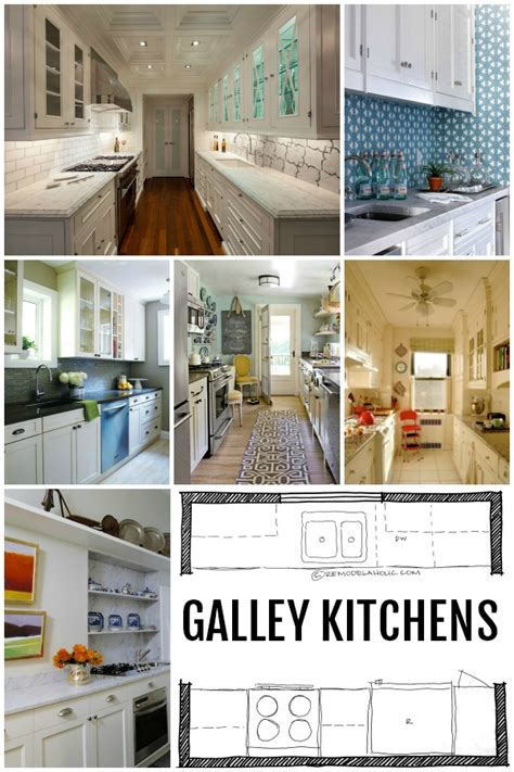 galley kitchen with island layout kitchen design galley kitchen layouts via remodelaholic