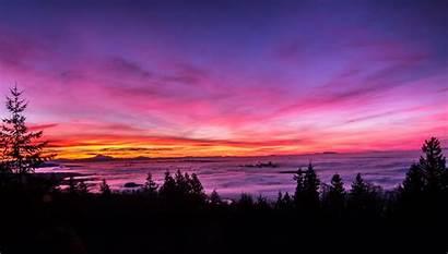 Sunset Landscape Bright Pink 4k Wallpapers 5k