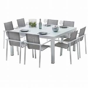 Ensemble Table Chaise Jardin Salon De Jardin Resine Pas