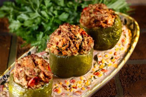 Chicken-stuffed Bell Peppers Features Ground Chicken