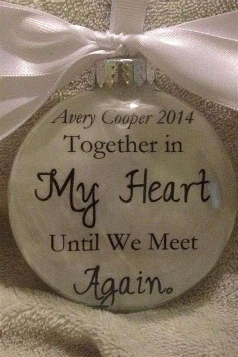ornament to remember a loved one memorial gift quot together in my until we meet again quot in memory memorial