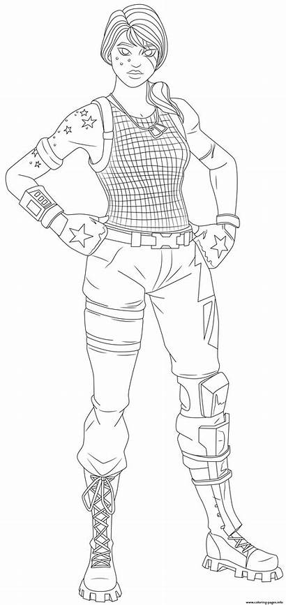 Fortnite Skin Sparkle Specialist Coloring Coloriage Pages