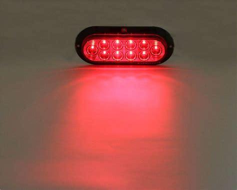 pro led 6 oval surface mounted led stop turn light