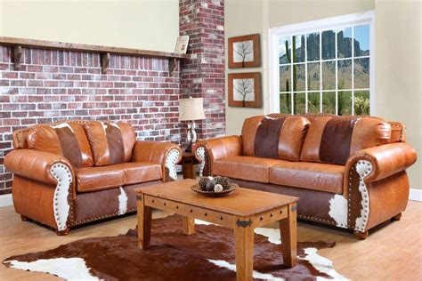 Leather Cowhide Furniture by Chelsea Home Furniture Rawhide Sofa Top Grain Leather