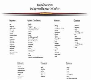 Listes De Courses : liste de courses pour le cookeo ~ Nature-et-papiers.com Idées de Décoration