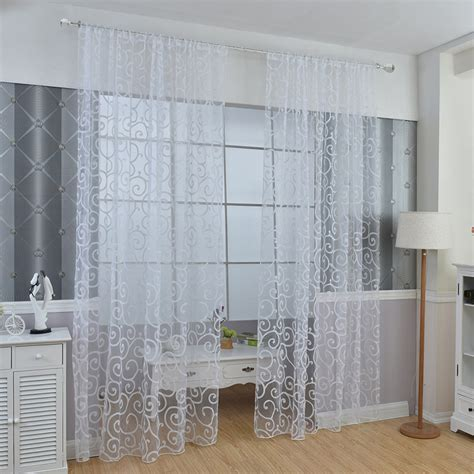 sheer voile curtains floral sheer voile curtains drape panel door window scarf