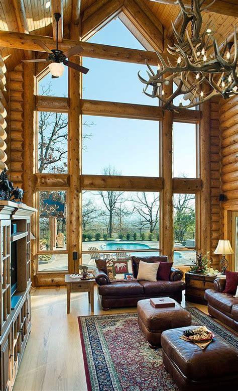 log home great room stunning windows log homes log home plans log home living
