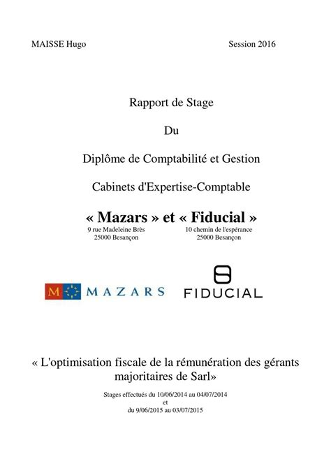 rapport de stage cabinet d expertise comptable rapport de stage dcg 3 hugo maisse by hugomaisse issuu