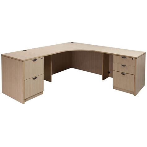 used l shaped desk laminate used corner desk l shape maple national office