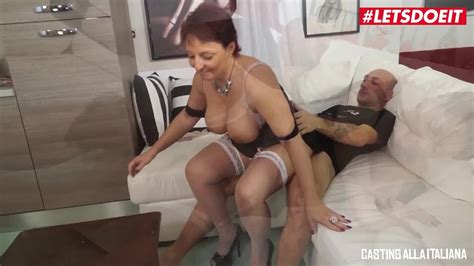 Letsdoeit Busty Italian Mature Redhead Tries Out Porn