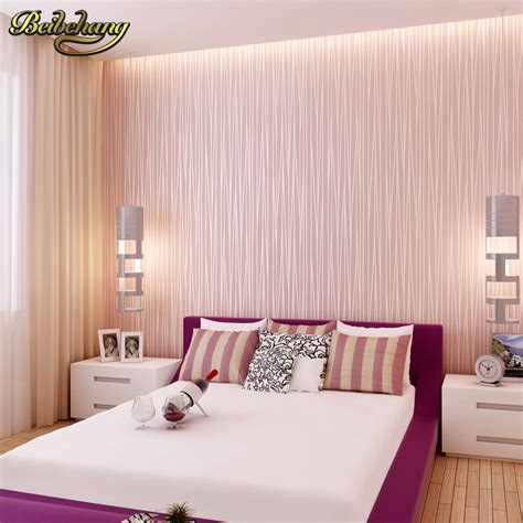 bedroom with pink walls beibehang modern plain pink wallpaper stripe classic pink 14476 | beibehang Modern plain pink wallpaper stripe classic pink wall paper striped non woven wallcovering pink papel