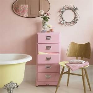 le rangement de salle de bains archzinefr With meuble salle de bain rose