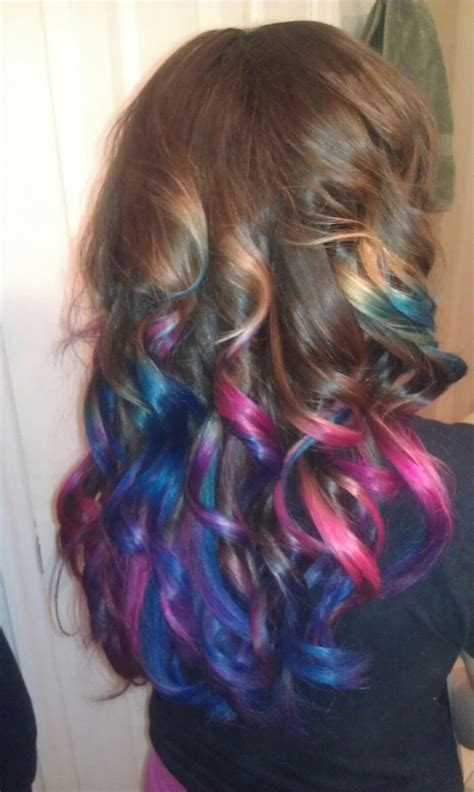 Pink And Blue Ombre Hair Hair Pinterest
