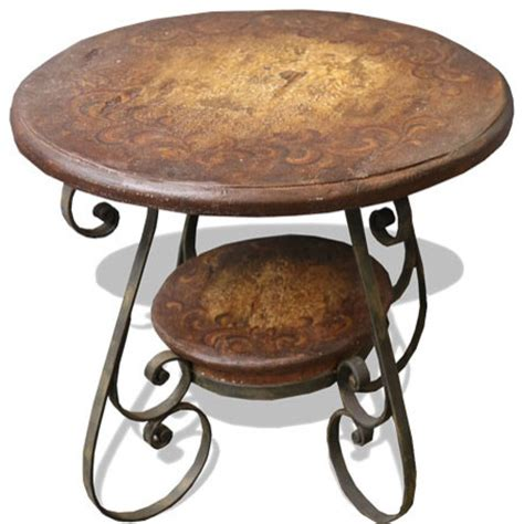 rustic wrought iron table ls tuscany wrought iron scroll table rustic brown with