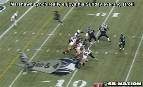 marshawn lynch leisurely scores  touchdown sbnationcom