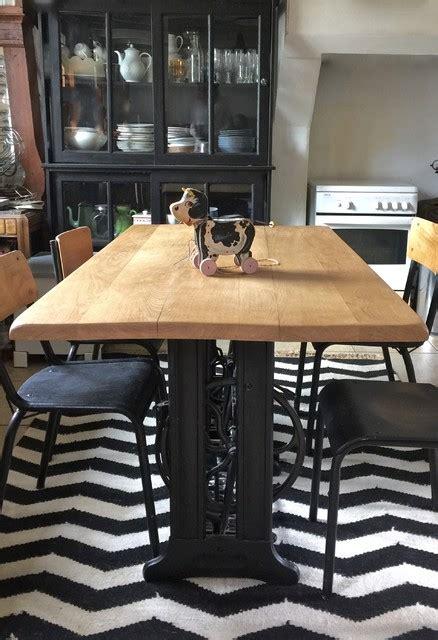 création d 39 une table manufacture indus 39 pieds singer
