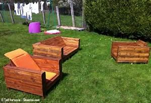meuble de jardin en palette de bois 1 bricolage creer With meuble de jardin avec palette en bois