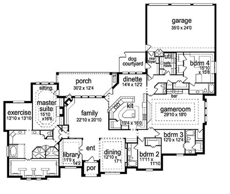 Bedroom Floor Exercises by Best 25 One Story Houses Ideas On House Plans