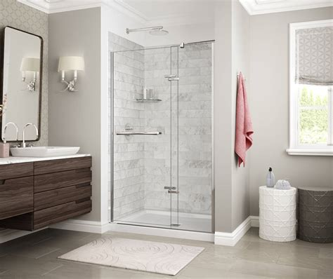 utile marble alcove shower maax