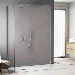 Paroi Salle De Bain : paroi de douche fixe 120x203 cm ice screen ~ Premium-room.com Idées de Décoration