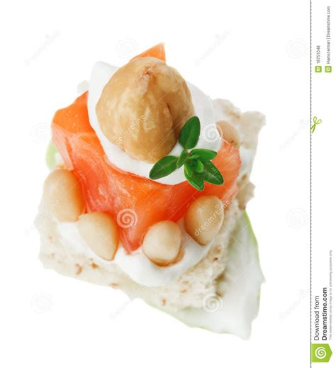 canape toast canape with salmon toast thyme and nut royalty