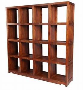 Bibliothèque 4 Cases : biblioth que palissandre 16 cases h183 ~ Teatrodelosmanantiales.com Idées de Décoration