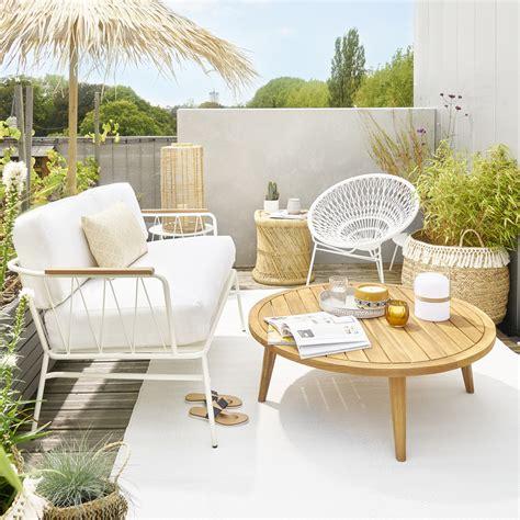 maison du monde canapé 2 places canapé de jardin 2 places en métal blanc canapé