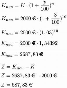 Zins Berechnen Formel : zinsen berechnen ~ Themetempest.com Abrechnung