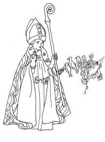 Saint Valentine Catholic Coloring Page