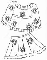 Coloring Clothes Colorir Roupa Colouring Imprimir Pagina Kleurende Desenhos Printables Shorts Coloritura Kleidet Druck Farbtonseite Roupas Imagens Printable Boek Skirt sketch template