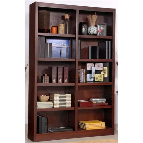 2 Ft Wide Bookcase by Concepts In Wood Wide 10 Shelf Bookcase