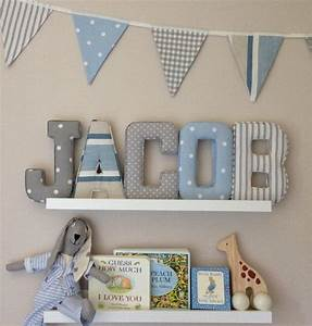 17 best images about baby ideas on pinterest baby boy With fabric covered letters for nursery