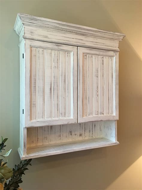 Distressed Bathroom Cabinets by Distressed White Cabinet Bathroom Cabinet Kitchen Cabinet