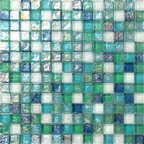 and glass mosaic 1 sq m blue green aqua hammered swirl glass bathroom mosaic tiles sheets mt0052 ebay