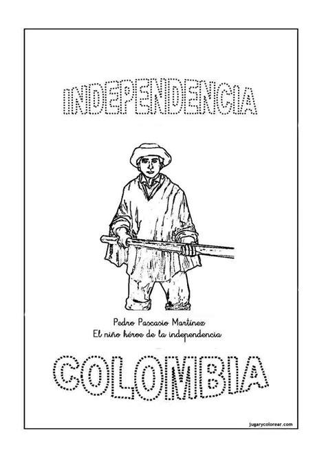 Colorear florero de Llorente y Pedro Pascasio Colombia