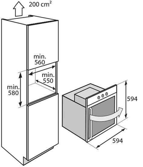 foto de OX6411ERN Multifunctionele oven met draaideur