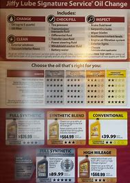 jiffy lube oil change prices
