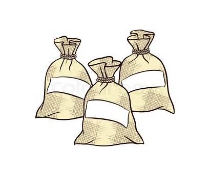 Sugar Bag Clipart Flour Salt Sacks Vector