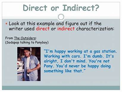 Indirect Characterization Direct Pair Think Write Steal