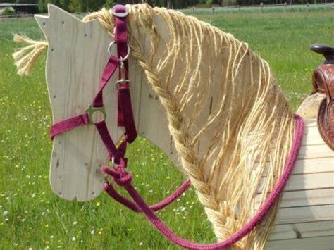 holzpferd holzpony runa mit blonder maehne neu viktor