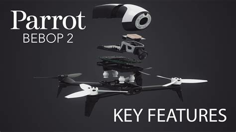 parrot bebop  drone key features youtube
