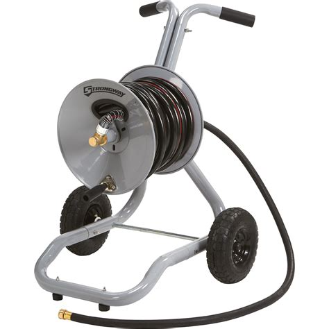 garden hose reel strongway garden hose reel cart holds 5 8in x 150ft