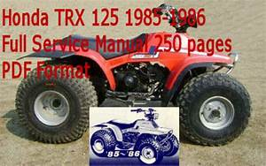 Honda Trx 125 1985-1986 Service Manual Download