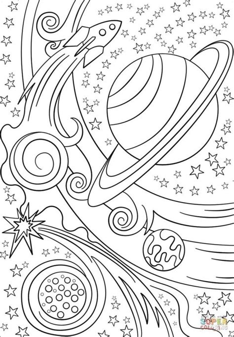 marvelous picture  outer space coloring pages star coloring pages planet coloring pages