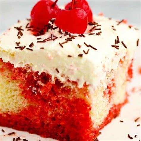 cherry jello coke poke cake  recipe critic