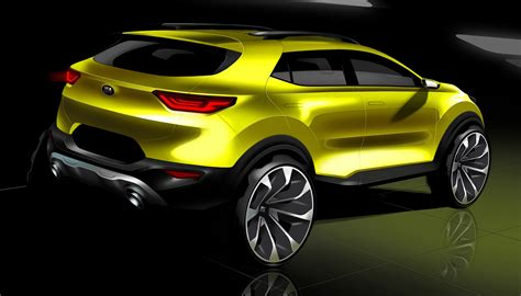 2018 Kia Stonic Previewed In New Sketches Update